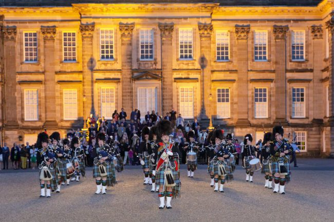 Pipe Band at Gala Dinner Scotland