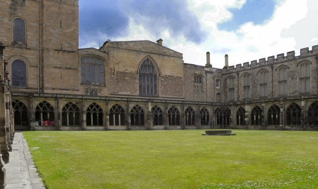 Cathedral cloisters surrounding quad